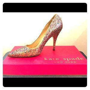 Kate Spade Multi-Glitter Pumps